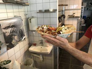 A Large Samis kebab at Bolltorps Hörna in Alingsås. Just north of Gothenburg.
